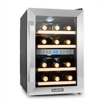 chłodziarka winiarka marki Klarstein, przeznaczona na 12 butelek