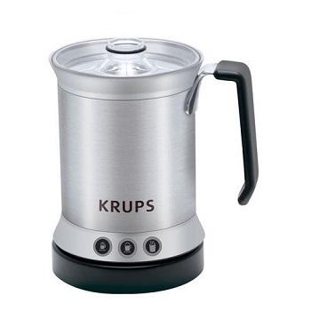 elektryczny spieniacz do mleka, droższy wariant, zapewniający jednak większą wygodę, dodatkowa możliwość podgrzania mleka