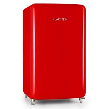 lodowka retro marki Klarstein o pojemności 136 litrów i klasie energetycznej A+