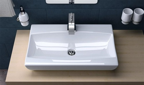 umywalka łazienkowa ceramiczna nablatowa Rea Roma