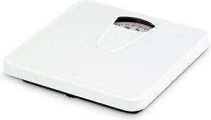 analogowa waga łazienkowa Soehnle Jolly, o plastikowej obudowie, w kolorze białym