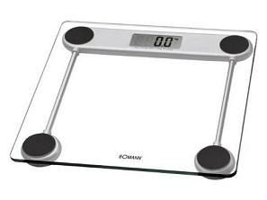elektroniczna waga łazienkowa Bomann PW1417CB, z limitem do 150kg oraz błędem wynoszącym 100g