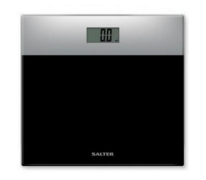 waga łazienkowa SALTER 9206 SVBK3R z wyświetlaczem LCD, max. dopuszczalnym obciążeniem do 200kg oraz technologią pomiaru masy ciała Compact Glass Scale