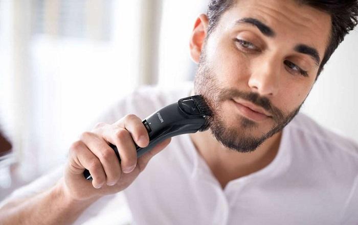 golenie brody trymerem