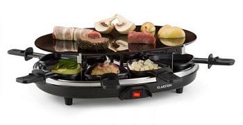 grill raclette Klarstein GQ6-Blackjack o mocy 900W