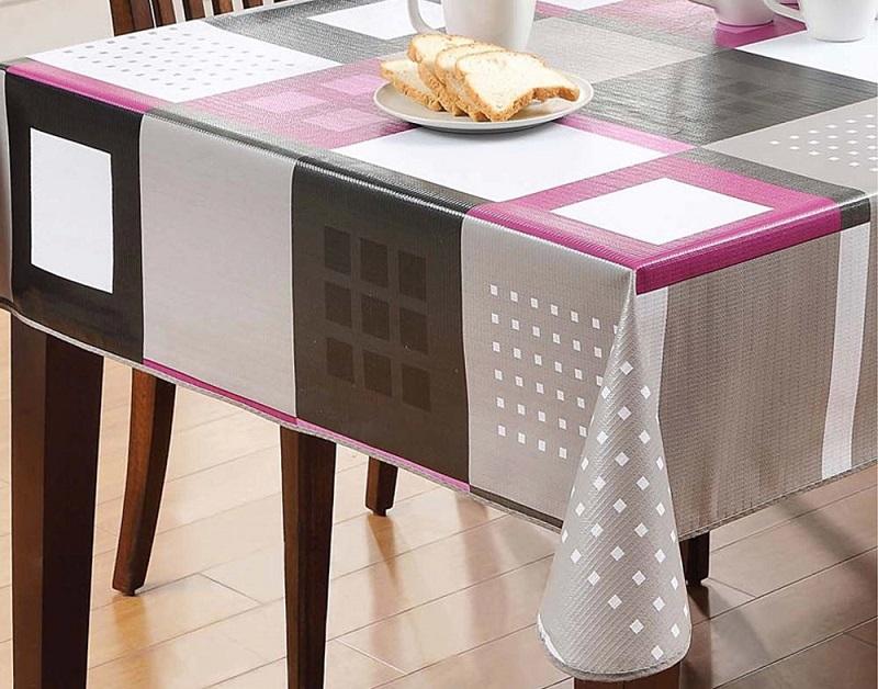 plamoodporny i wodoodporny obrus na stół kuchenny, wykonany z tworzywa sztucznego